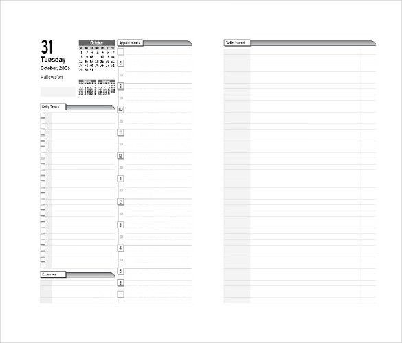 8+ Free Daily Planner Templates in Microsoft Word Download | Free ...