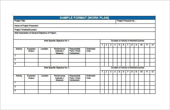 Sample Work Plan Template. Marketing Plan Pdf Report Work Plan Pdf ...