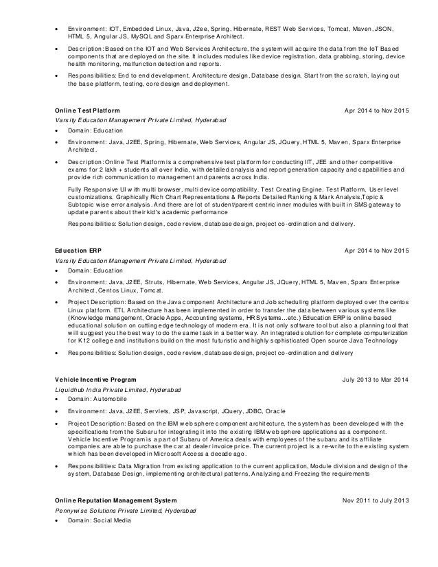Ashok Architect resume