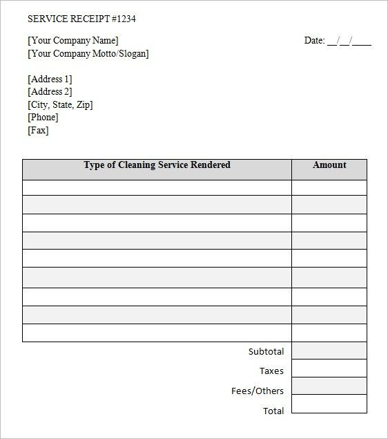 Cleaning Service Invoice Template - Printable Word, Excel Invoice ...
