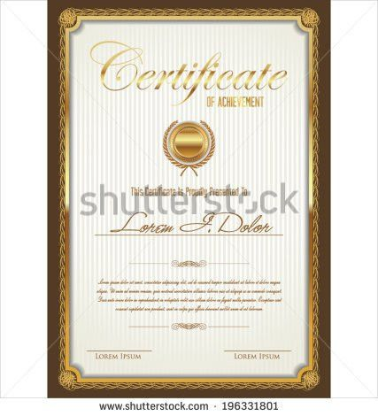 Green Certificate Completion Template Sample Background Stock ...