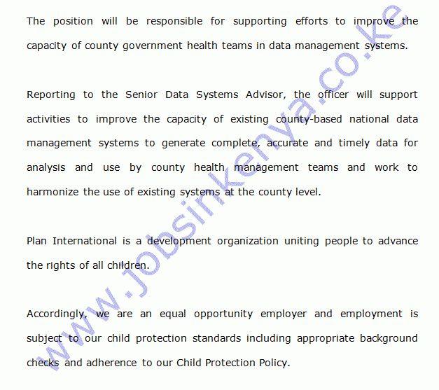 Plan International Data Systems Officer Vacancy in Kisumu | Jobs ...