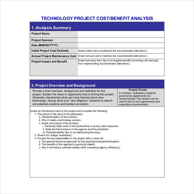 Cost Benefit Analysis Template - 5+ Free PDF, Word Documents ...