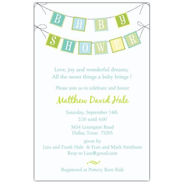 Sample Baby Shower Invitations Wording | THERUNTIME.COM