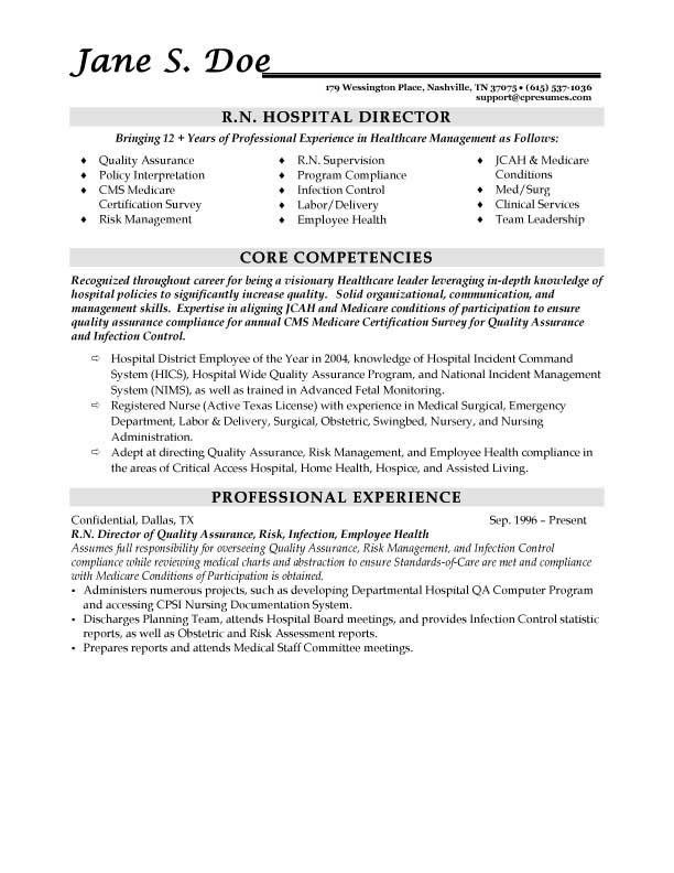 registered nurse resume sample. healthcare resume example ...