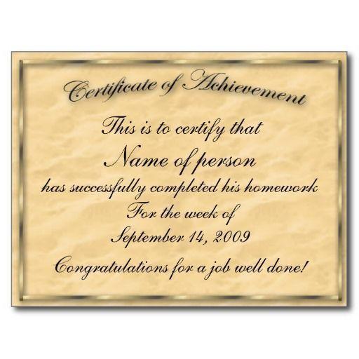 Best 20+ Certificate of achievement template ideas on Pinterest ...