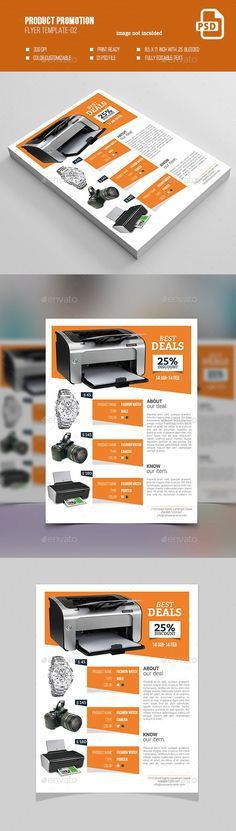 Product Promotion Flyer Print Templates | Flyer printing, Print ...