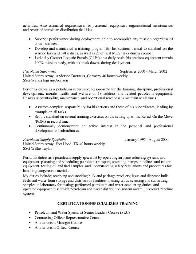 sample supply specialist resume. sample unit supply specialist ...