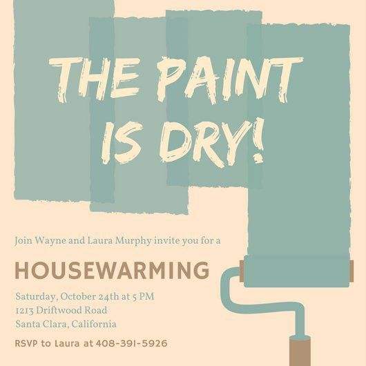 Paint Housewarming Party Invitation - Templates by Canva