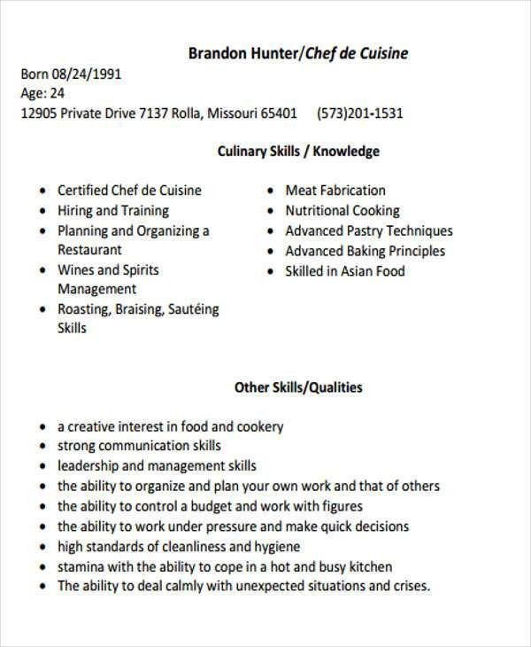 Cook Resume. Cook Resume Objective Resume Format Download Pdf It ...