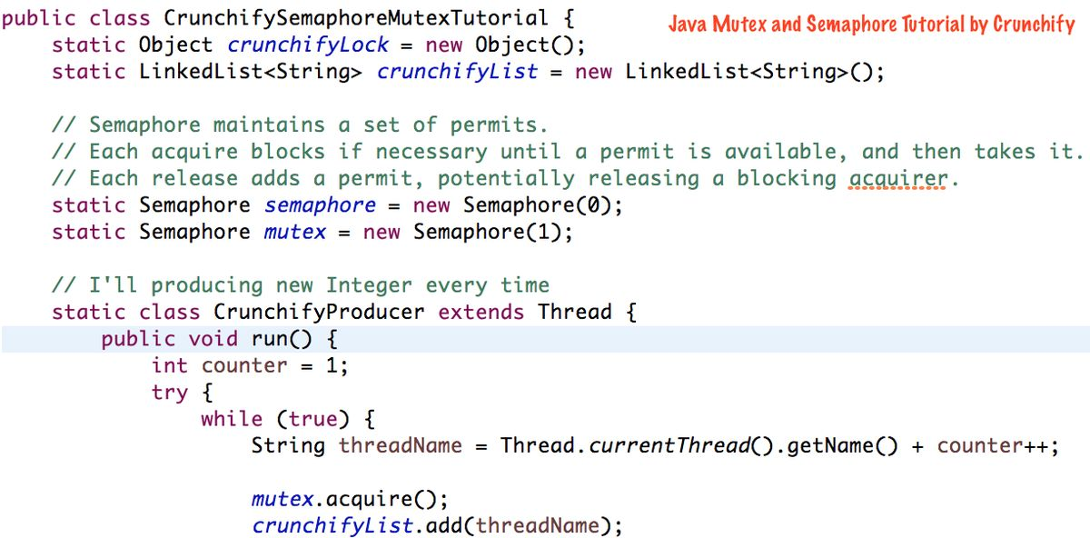 What is Java Semaphore and Mutex - Java Concurrency MultiThread ...