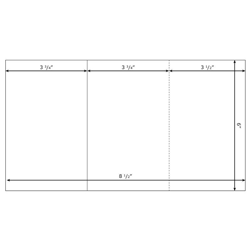 Burris Blank TriFold Template Small for Microsoft Word