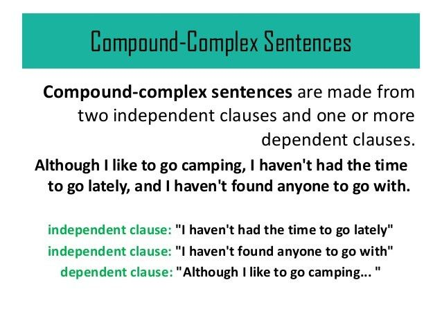 Complex and Compound-Complex Sentences in Communication Breakdown