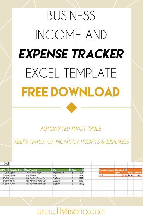 Income and Expense Tracker Excel Template - Free Download ...