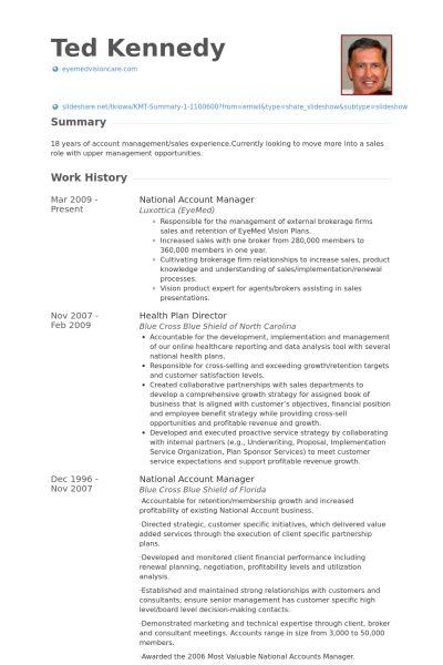 National Account Manager Resume samples - VisualCV resume samples ...
