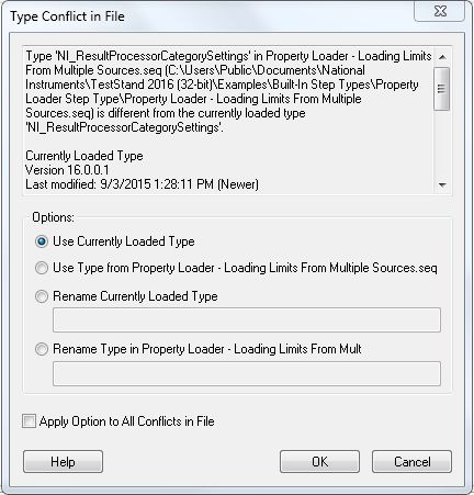 Why Do I Get a Error -17329: Types Conflict in TestStand 2016 ...