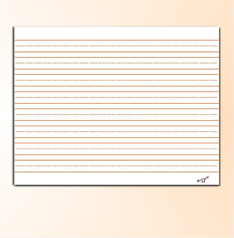 Primary Writing Paper Landscape Paper Educational Tool for