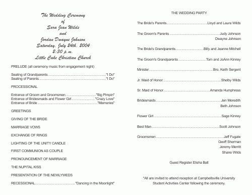 Free Wedding Program Templates | Best Agenda Templates