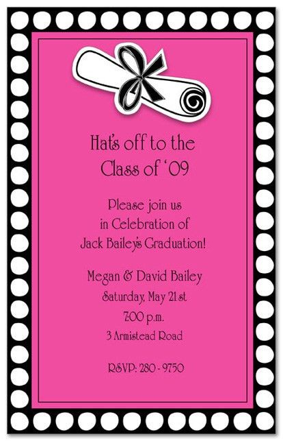 Graduation Party Invitation Wording | dancemomsinfo.com