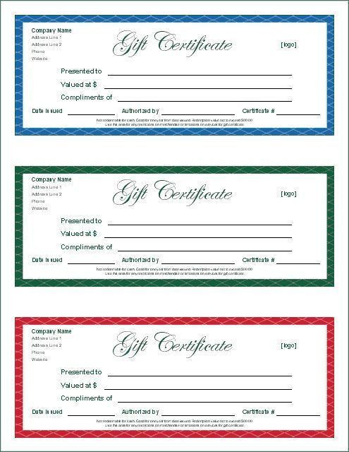 22 best Gift Certificate printables images on Pinterest ...