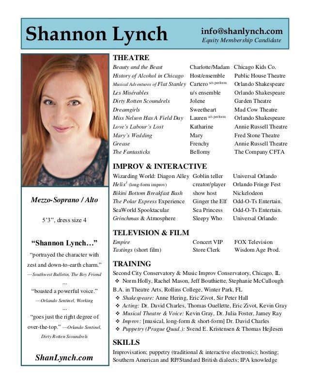 Shannon Lynch - Acting Resume
