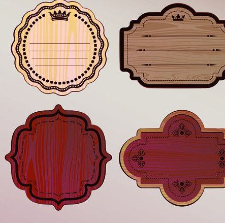 Various wooden label design vector 02 – Over millions vectors ...