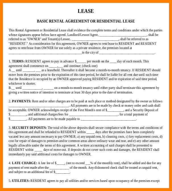 6+ Downloadable Residential Lease Agreement | Resigning Letter  Downloadable Lease Agreement