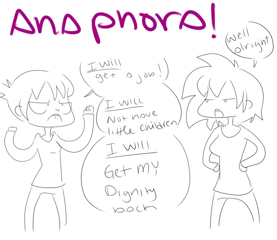 This picture/comic displays a nice example of anaphora. The person ...