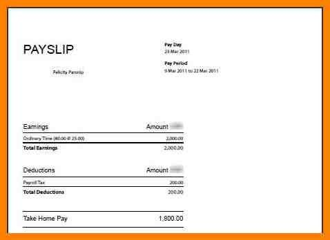 Payslip Template Word Document - Template Examples
