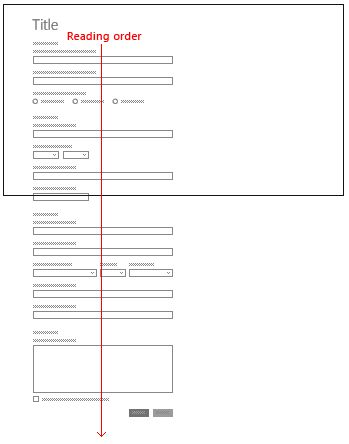 Guidelines for form layouts - Windows app development