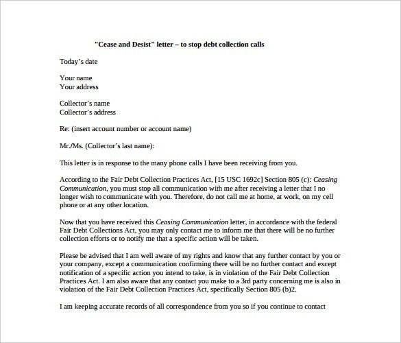 Cease And Desist Template. Cease And Desist Letter Sample | Sample ...