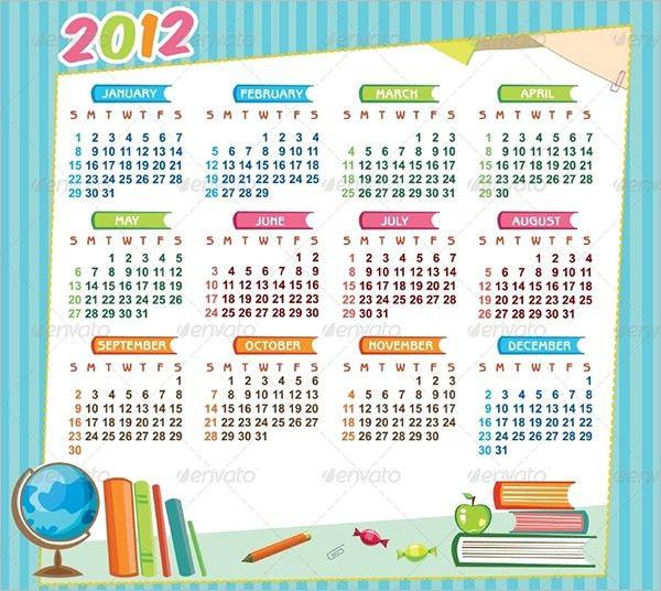 10+ School Calendar Templates - Free Sample, Example, Format ...