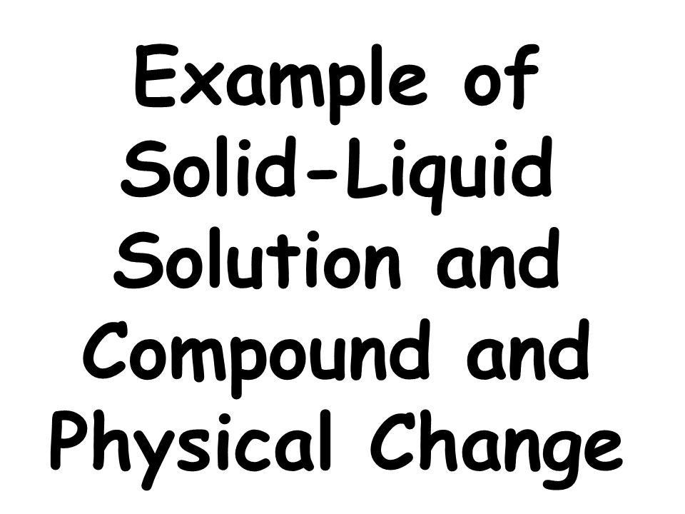 Example of Physical Change - ppt video online download