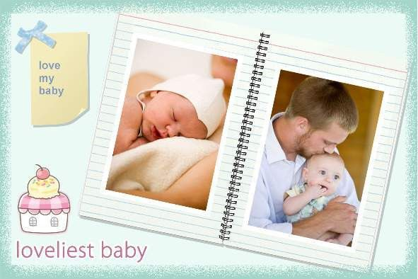 Free photo templates - Lovely Baby Album