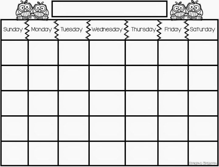 days of the week schedule template - Google Search | activities ...