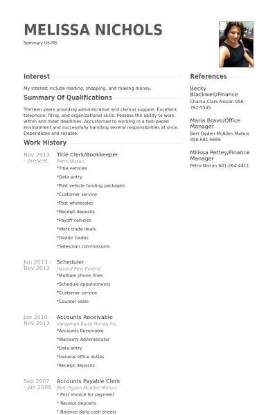 Bookkeeper Resume samples - VisualCV resume samples database