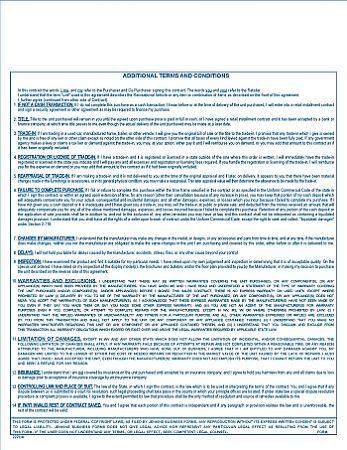 Ohio Recreational Vehicle Purchase Agreement