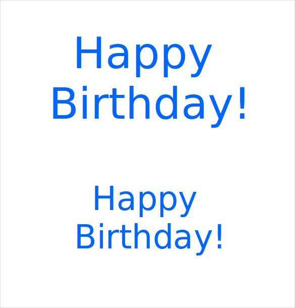 Happy Birthday Word Template [Nfgaccountability.com ]