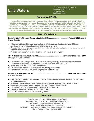 Exciting Cover Letter Massage Therapy Resume Template with massage ...