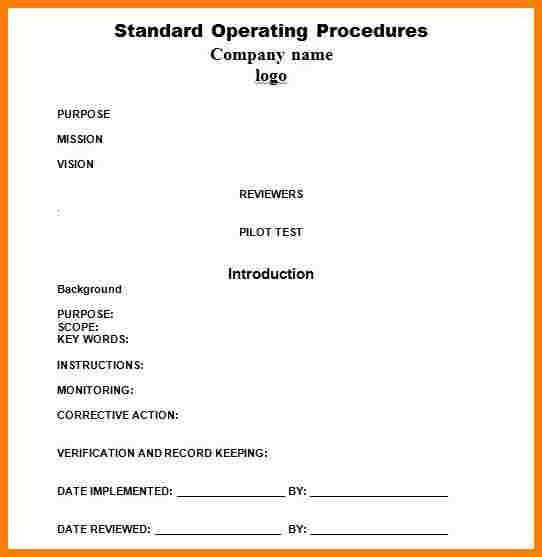 10+ procedure template   cna resumed