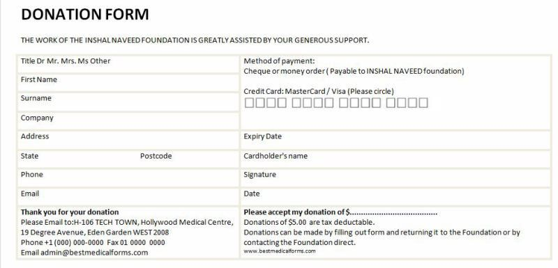 6 Free Donation Form Templates - Excel PDF Formats
