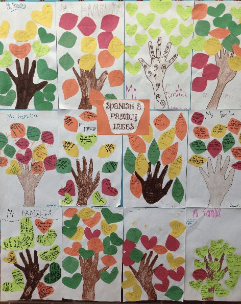 Spanish A did a great job with their family tree project. Each ...