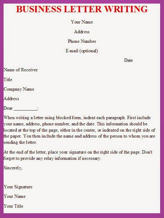 Writing Business Letters | Best Business Template