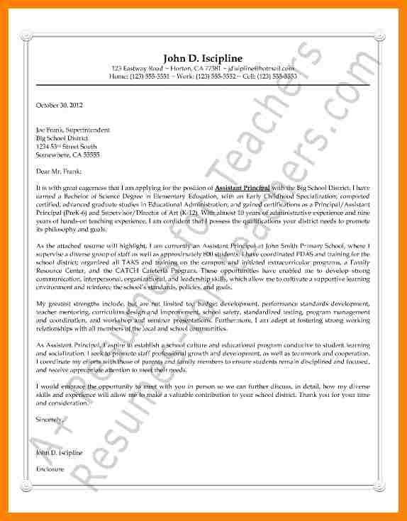 elementary principal cover letter sample how to write an - Principal Cover Letter