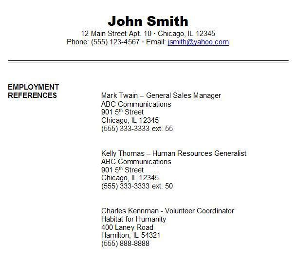 100% Original | resume job references