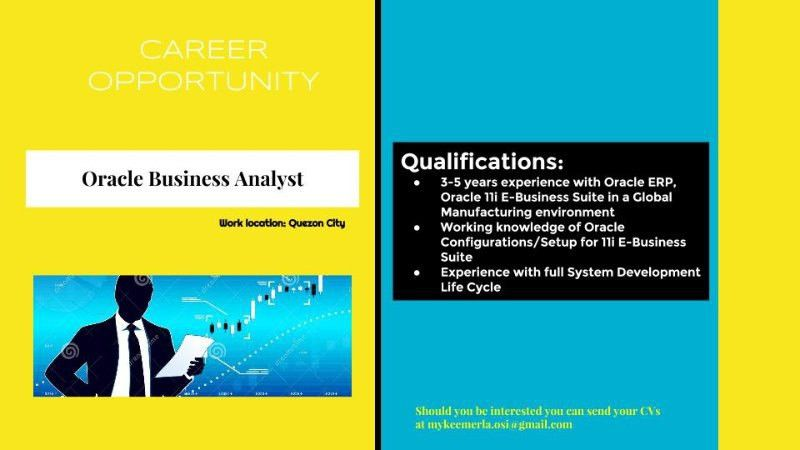 WE ARE HIRING: Oracle Business Analyst | Mykee Merla | Pulse ...