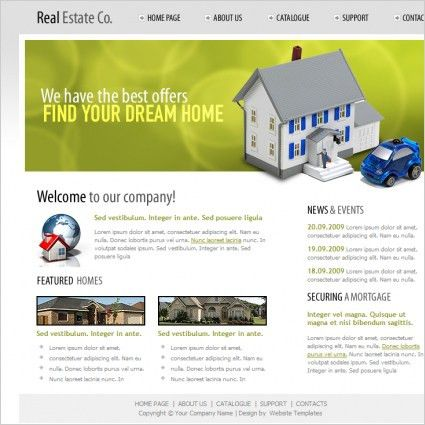 Real estate website template Free website templates in css, html ...