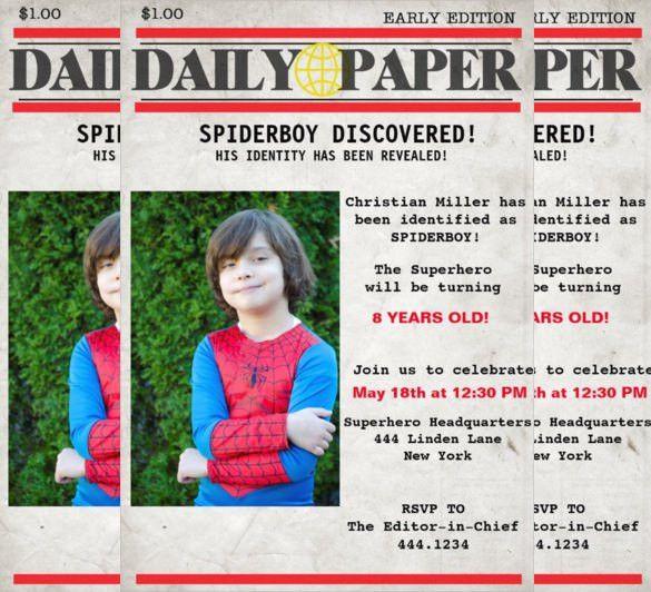21+ Superhero Birthday Invitation Templates – Free Sample, Example ...