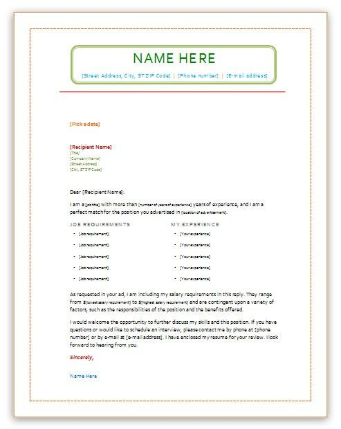 New cover Letter word templates word template office template ...