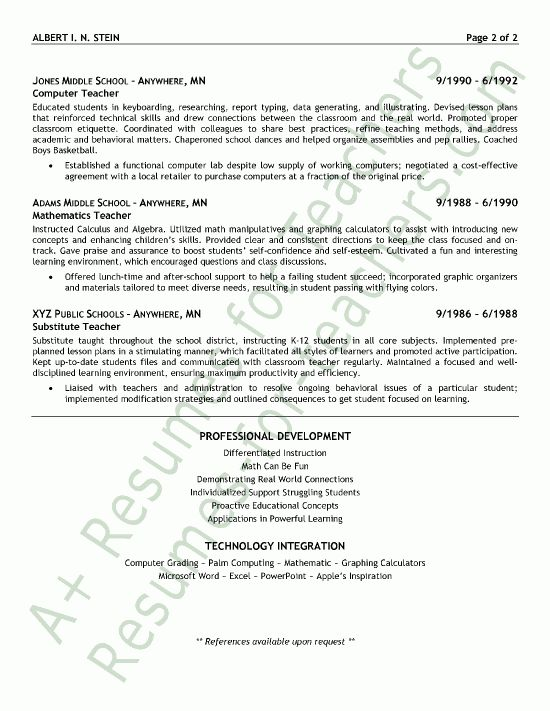 Resume Examples. Art Teacher Resume Template with No Teaching ...
